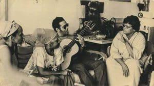 Omara Portuondo, Moraima Secada, Martín Rojas and Elena during a rehersal