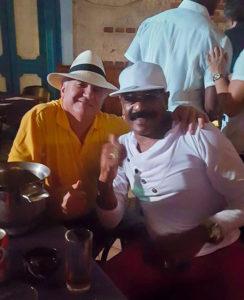 Pedro Calvo and José Roberto Rodríguez enjoying Tradicionales de los 50 show