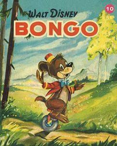 Bongo el dibujo animado con forma de osito creado por Disney