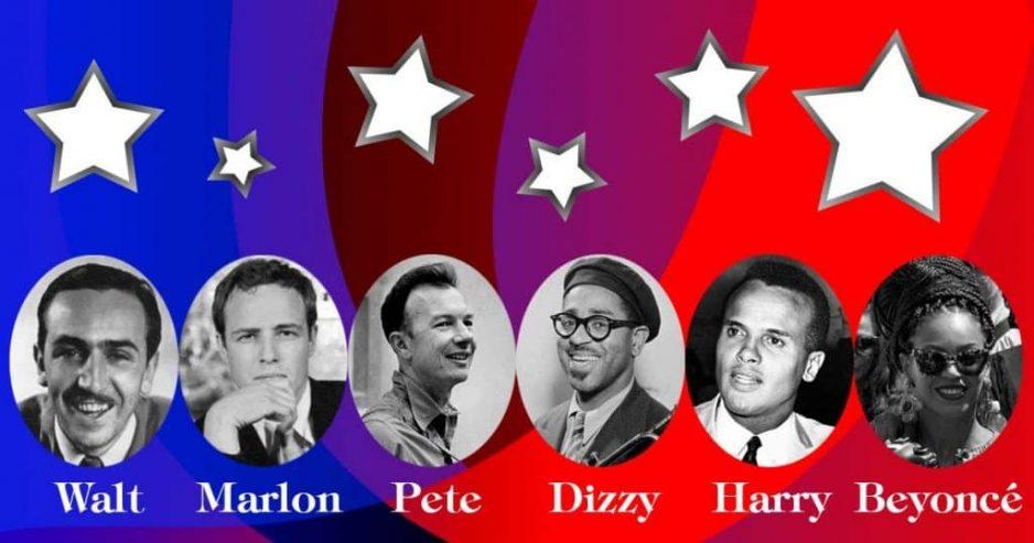 Walt Disney, Marlon Brando, Pete Seeger, Dizzy Gillespie, Harry Belafonte, Beyoncé, American artistas in Cuba