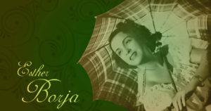 Esther Borja with umbrella