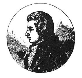 Grabado que muestra el perfil de Mozart, siglo XIX