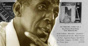 "Barbarito Diez and LP's ""Asi bailaba Cuba"" collage"