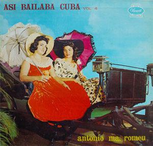 """Portada del volumen 4 de la serie de discos LP """"Así bailaba Cuba"""""""