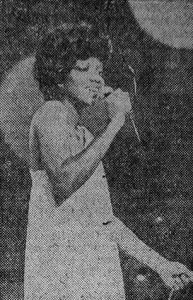 Leonor Zayas en la noche de premios del concurso